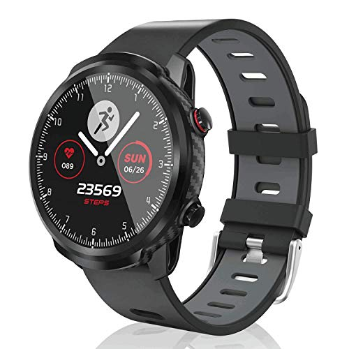 CatShin Smartwatch Uomo Donna Orologio Fitness Contapassi Calorie Cardiofrequenzimetro da Polso, Impermeabile IP67 Smart Watch Touchscreen Activity Tracker per Android iOS (Grigio)