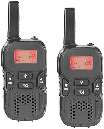simvalley communications Handfunkgerät: Walkie-Talkie-Set m. VOX, 5 km Reichweite, Micro-USB-Ladeport, 2er-Set (Funksprechgerät)