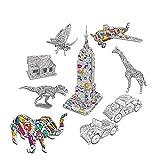 Rompecabezas de colores 3D, Rompecabezas de animales con 10...