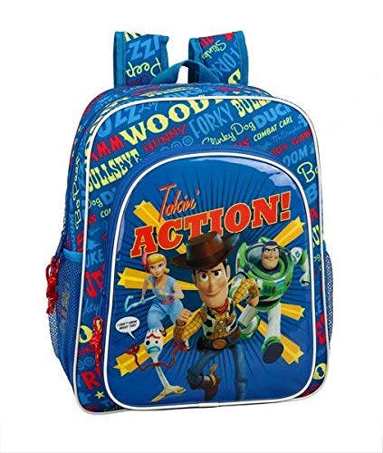 Toy Story 4  Mochila Junior  32 x 38 12 cm  Azul