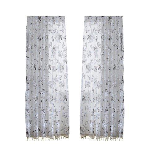 cortinas habitacion flores negras