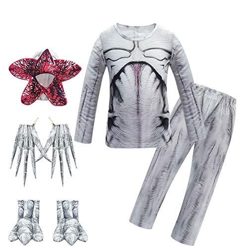 Stranger Things - Pijama de demogorgon para niños, con capucha, disfraz de Halloween