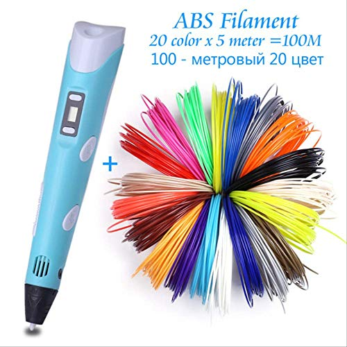 3d Printing Pen N Diy 3 D Printing Drawing Pens With 100 200 Meter Abs Filament Creative Toy Gift For Kids Design Wholesale Abs 100m 20 Color