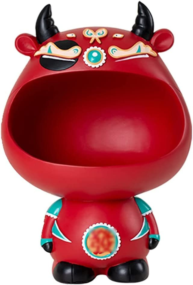 Limited time cheap sale SHSM Creative Cow Sculpture Desktop 5 ☆ popular Candy Box Storage Key f Bowl
