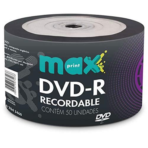 MÍDIA DVD-R Gravável MAXPRINT 4.7 GB - 120 MIN - 16X - Bulk c/50 unidades (DVD-R LOGO BULK C/50 MAX)