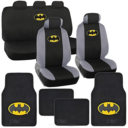 Batman Seat Cover & Floor Mat for Car - Warner Brothers Auto Accessories