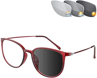 Photochromic Leesbril, Retro Alloy Full Frame Strain Anti Glare Eye UV400 Overgang Lenzen Presbyopia Zonnebril Voor Mannen...