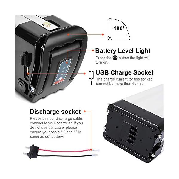 51umjlXo38L. SS600  - SEASON E-Bike Akku 36V 15Ah(555Wh) mit USB, Pedelec Ersatzbatterie für Aldi Prophete Mifa Samsung Phylion