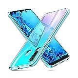 NEW'C Coque pour Huawei P30 Lite, [ Ultra Transparente Silicone en Gel TPU Souple ]...