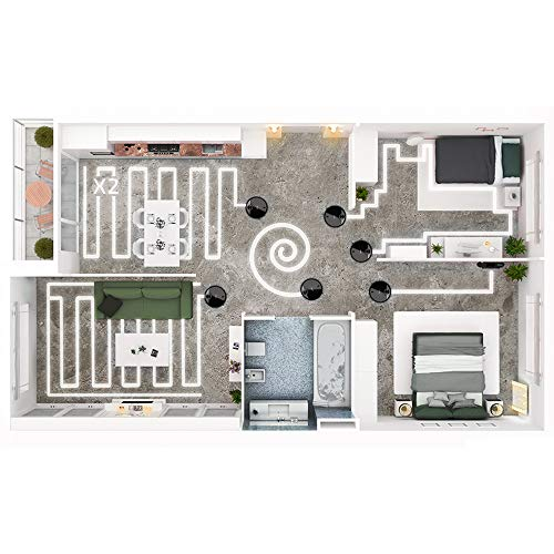 Cecotec Robot Aspirador Conga Serie 3690 Absolute. 2700 Pa, Gestión y Edición de Habitaciones, App con hasta 5 Mapas, Aspira, Barre, Friega y Pasa la Mopa, Alexa y Google Home, Apto para Wi-Fi 5GHz