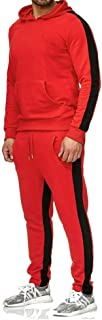 Mens Casual Sweatshirts Long Sleeves Jogger Athletic Hooded Sweat Suits