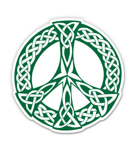 GT Graphics Express Celtic Peace Sign - 5' Vinyl Sticker - for Car Laptop I-Pad - Waterproof Decal