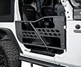 Hooke Road Tubular Half Doors Tube 2 Doors Compatible with Jeep Wrangler JK 2007-2018 2-Door