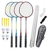 Badminton Rackets Set-4 Personne Jeu De Badminton Avec Net Pour Jardin...