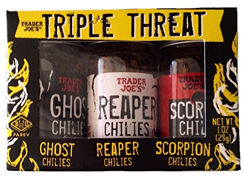 Trader Joe's Triple Threat Pepper Set: Ghost Chilies, Reaper Chilies, Scorpion Chilies