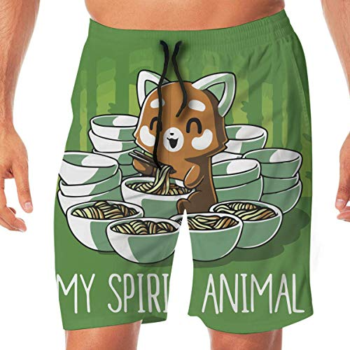 yting Herren Sportwear Eichhörnchen Nudel Sommer Atmungsaktiv Schnell Trocknend Badehose Strand Shorts Board Shorts, Größe XL