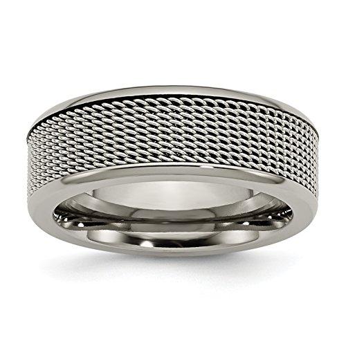 Base de titanio con centro de malla de acero inoxidable de 8...