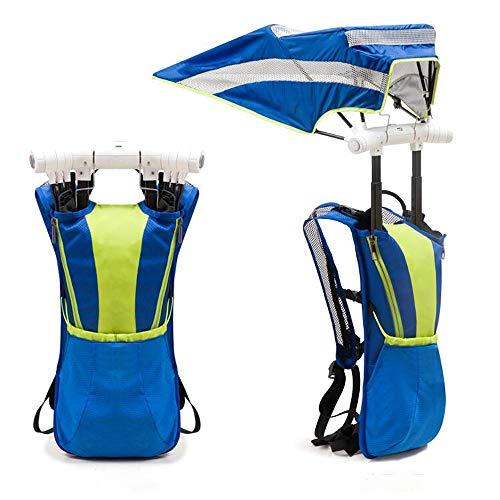 ZY Multifunktions-Wanderrucksack mit Regenschirmen, tragbarer Sonnencreme-Kühlrucksack-Regenschirm im Freien leicht mit Ventilator