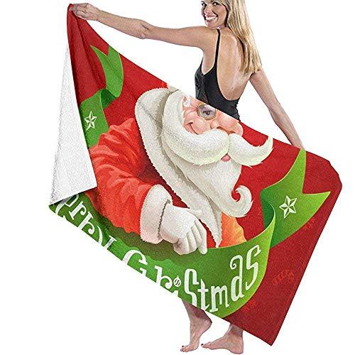 badhanddoek Kerstman dragen Bril zwembad Handdoeken Badjas Cover Up Prints Zwemmen Womens Douche Spa Bad Handdoeken strand Handdoeken