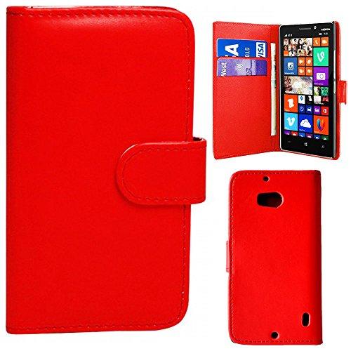 Vanilla Cloud Étui à rabat en cuir pour Samsung Galaxy S4 Mini Rouge