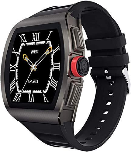Reloj inteligente para Android e Ios Smartwatch con monitor de frecuencia cardíaca y presión arterial reloj de fitness IP68 impermeable para hombre relojes blanco-negro