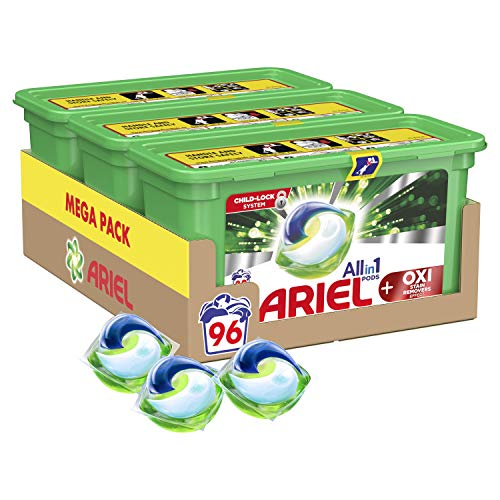 Ariel All-in-1 Pods with Oxi Stain Removers Washing Liquid...
