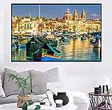 sunhanxu Marsaxlokk Bay Malta Neue Kunst Poster und Drucke