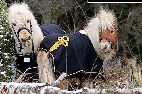 Minishetty Shetty Paradedecke Schw/silbernd Fleece Abschwitzdecke Minipony 70 75 80 85 90 cm Hier 80 cm