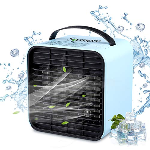 Skymore USB Tragbar Mini Lüfter, Mini klimaanlage, Tragbar Luftkühler Ventilator für Zimmer Büro
