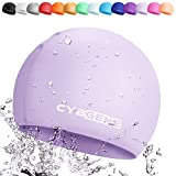 CybGene Silicone Swim Cap for Women and Men-Size Large-Color Light Purple 2019