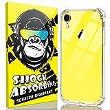 iCaber Schutzhülle für iPhone XR, weiches & flexibles TPU [kratzfest], 4 Ecken, stoßabsorbierend, kristallklare Hülle für iPhone XR 6,1 Zoll