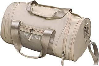 Sports Gym Bag,Sports Duffle Bag with Shoes Compartment and Wet Pocket for Yoga Hiking (Color : Khaki)
