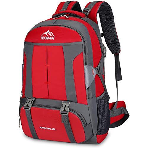 Bioasis Mochila de Senderismo  60L de Escalada para Camping Deportes Montañismo Trekking