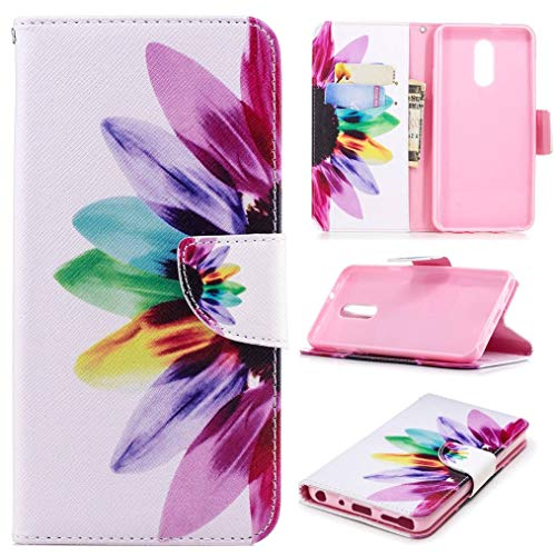 LG Stylo 4 Case, LG Q Stylus Case, iYCK Premium PU Leather Flip Folio Magnetic Closure Protective Shell Wallet Case Cover for LG Stylo 4 Case LG Q Stylus with Kickstand Stand - Colorful Flower