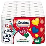 Regina di Cuori Carta Cucina | Confezione da 30 Rotoli | 50 fogli per rotolo* | Grande Assorbenza, Spessa e Resistente | Carta 100% certificata FSC