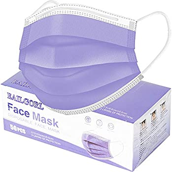 50-Pack EAILGORL 3 Layer Face Mask
