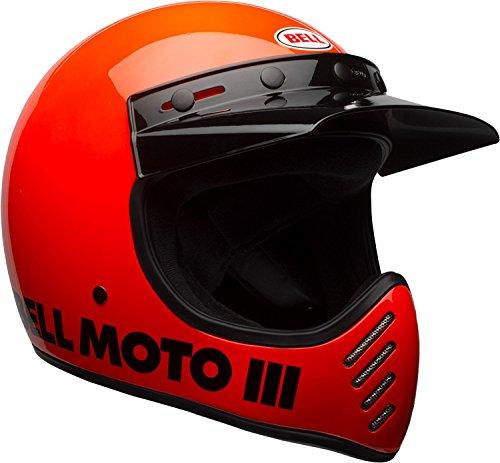 BELL Moto-3 Helmet (Gloss Hi-Viz Orange - Large)