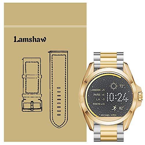 LvBU Classic Edelstahl Uhrenarmband Kompatibel für Michael Kors Bradshaw Smartwatch (Golden)