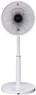 東芝 リビング扇風機 DCモーター搭載 リモコン付 ホワイト F-DLW65(W)