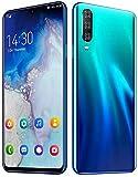 YHDD M9UMDI, Smartphone 6 GB 128 GB, Sensor De Huellas Digitales con 6,3 Pantalla FHD, Autofoto Pop-up, Cámara De 13 MP + 18MP, Procesador De Helio G90T Juego, 3800mAh, Android 9.1 (Color : Blue)