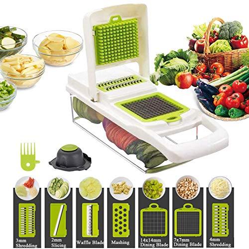 Trituradora de verduras, 12 en 1, la tercera generación de trituradores de alimentos, máquina para cortar verduras, queso, frutas, apio, papas, zanahorias y ensaladas de frutas