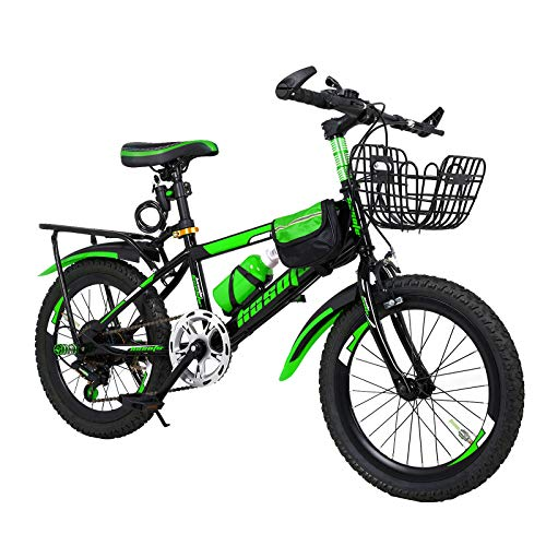 N-A 18/20/22 Inch Kids Bicycle Mountain Bike for 6-15 Years Children Teens, Portable Outdoor Mountain MTB Bicycle with Accessories Spree