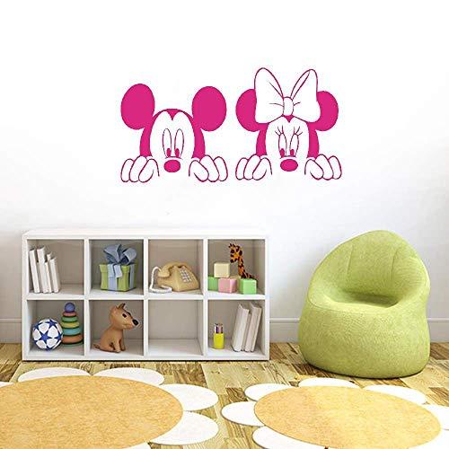 Décoration murale Mickey Minnie Mouse Dessin animé Mickey Minnie Mouse bébé chambre d'enfant chambre d'enfants belle Mickey Minnie Mouse chambre décor à la maison