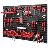 Werkzeugwand Lagersystem – 1152 x 780 mm Wandregal mit Werkzeughaltern – Set 38 Zubehör Werkzeuglochwand Werkstattregal Haken
