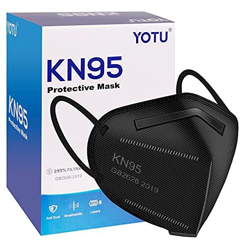 KN95 Face Masks 60 Pcs, Black & White, 5 Layers...