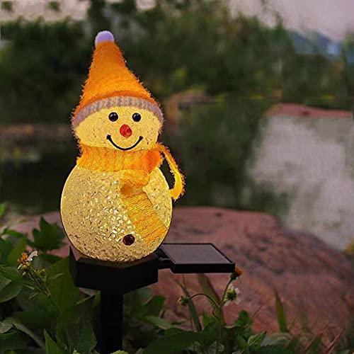 YONGMEI Luces Solares Al Aire Libre Luces solares Jardín al Aire Libre, jardín Impermeable Luces de muñeco de Nieve, Adornos de iluminación Exterior de jardín Solar para Navidad Regalo Pathway Yard