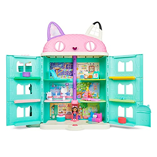 Gabby's Dollhouse, Purrfect Dollhouse with 15 Pieces Including Toy Figures, Furniture, Accessories and Sounds, Kids Toys for Ages 3 and up