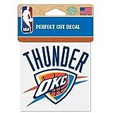 Wincraft NBA Oklahoma City Thunder 21761010 Perfect Cut Farbaufkleber, 10,2 x 10,2 cm, schwarz