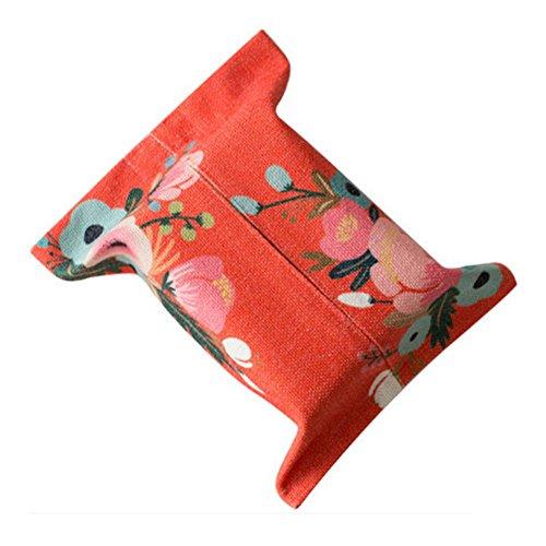 East Utopia Cubierta de la Caja del Tejido del patrón de la Flor roja Inferior, decoración para el hogar y el Coche