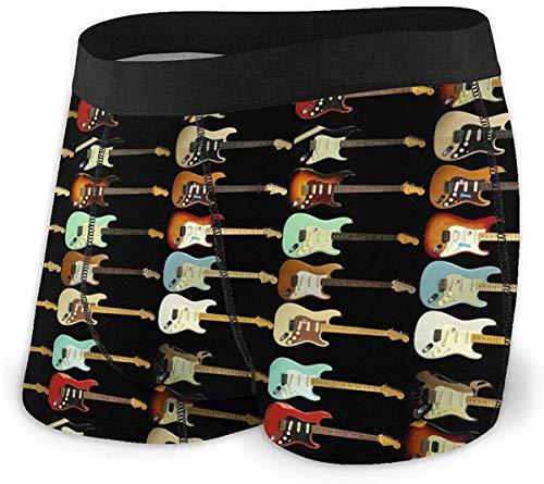 xianjing6 Herren Unterwäsche Boxershorts Fender Stratocaster Mens No Ride Up Boxer Briefs Cool Underwear Shorts for Men S-XXL Polyester Spandex Quick Dry